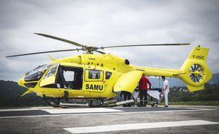 Un transfert de malade en hélicoptère