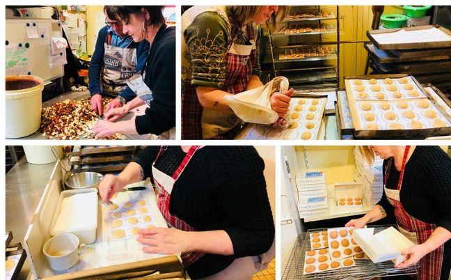 Les différentes étapes du macaron de Saint-Emilion.