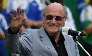 Sepp Blatter, futur-ex président de la Fifa, en juillet 2014, à Rio.