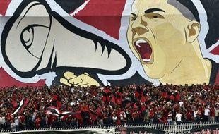 Des supporters de l'USM Alger au stade, le 29 septembre 2017.