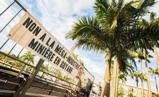 Rassemblement hostile au projet Montagne d'Or, le 16 juin 2018  Cayenne.