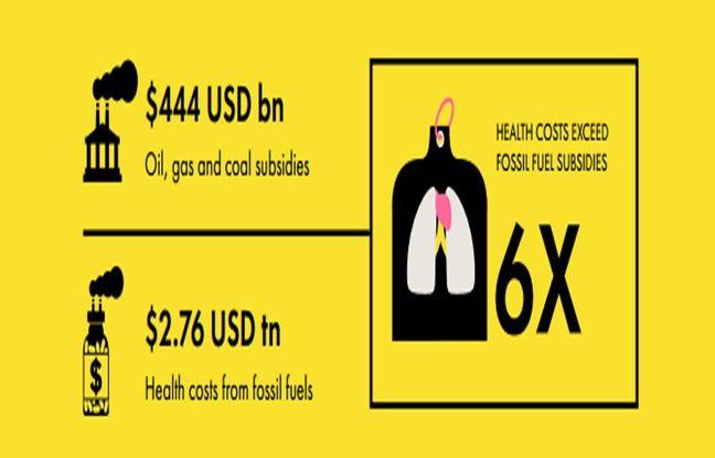 L'Alliance pour l'environnement et la santé a comparé le montant des subventions octroyés par les pays du G20 aux énergies fossiles, et les dépenses de santé consacrés pour contrer les effets de la pollution atmosphérique...
