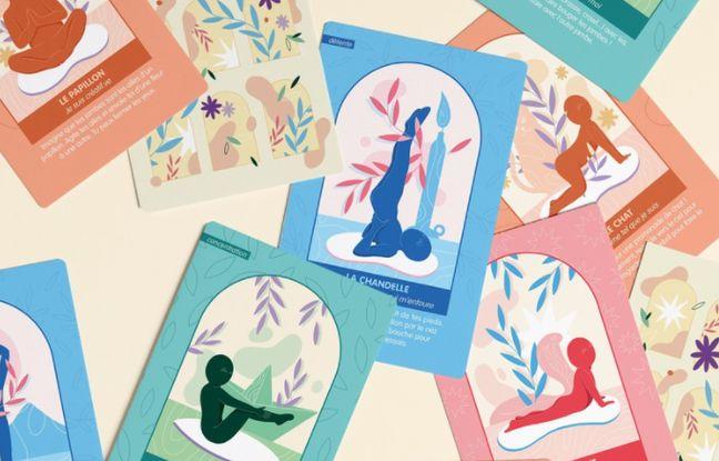 Ce jeu de cartes doit permettre d'initier les enfants au yoga, de manière ludique