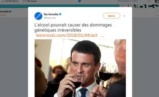 Manuel Valls n'a pas apprécié l'illustration