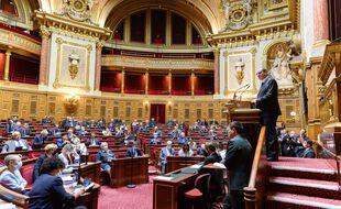 L'hémicycle du Sénat, le 16 juillet 2020.