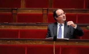 François Hollande à l'Assemblée nationale le 13 octobre 2009