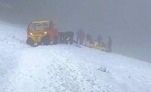 Les pompiers de Haute-Garonne sont intervenus avec une véhicule  baptisé Unité légère de secours tous terrains.