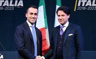 Le juriste Giuseppe Conte (à dr.) est pressenti pour prendre la tête du gouvernement italien.