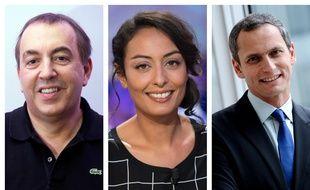 Jean-Marc Morandini, Leïla Kaddour-Boudadi et Louis Laforge.