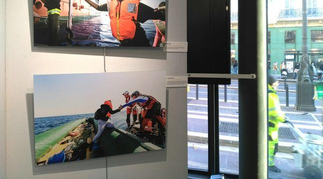 Marseille accueille sur la Canebière des photos de SOS Méditerranée