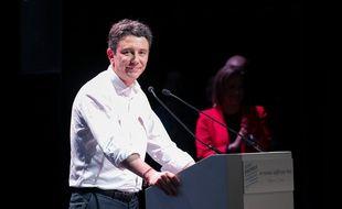 Benjamin Griveaux en meeting à Paris le 27 janvier 2020.