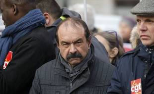 Philippe Martinez lors d'une manifestation à Paris, le 10 décembre 2019.