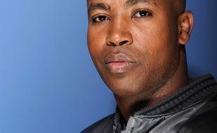 Rohff (Housni Mkouboi), rappeur francais. Photographie réalisee le 2 octobre 2009 à Paris à l'occasion du tournage de l'émission