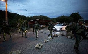 Des soldats mexicains déployés à la frontière avec le Guatemala pour ralentir l'immigration clandestine.