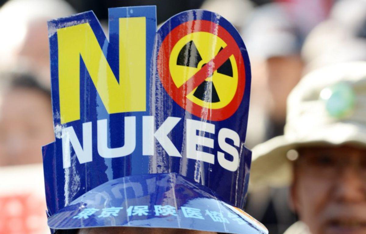 Manifestation de plus de 5.000 personnes à Tokyo contre le nucléaire, le 15 mars 2014. – TOSHIFUMI KITAMURA / AFP