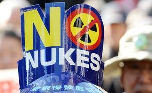 Manifestation de plus de 5.000 personnes à Tokyo contre le nucléaire, le 15 mars 2014.