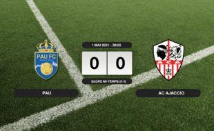 Ligue 2, 36ème journée: Match nul entre Pau et l'AC Ajaccio (0-0)