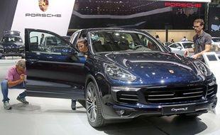 Illustration Porsche Cayenne.