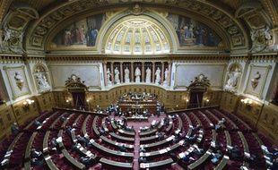 Vue de l'hémicycle du Sénat, en octobre 2012.