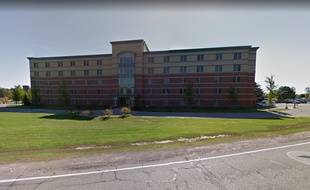 Le Campbell Hall de l'université de Central Michigan, sur Google Street View.