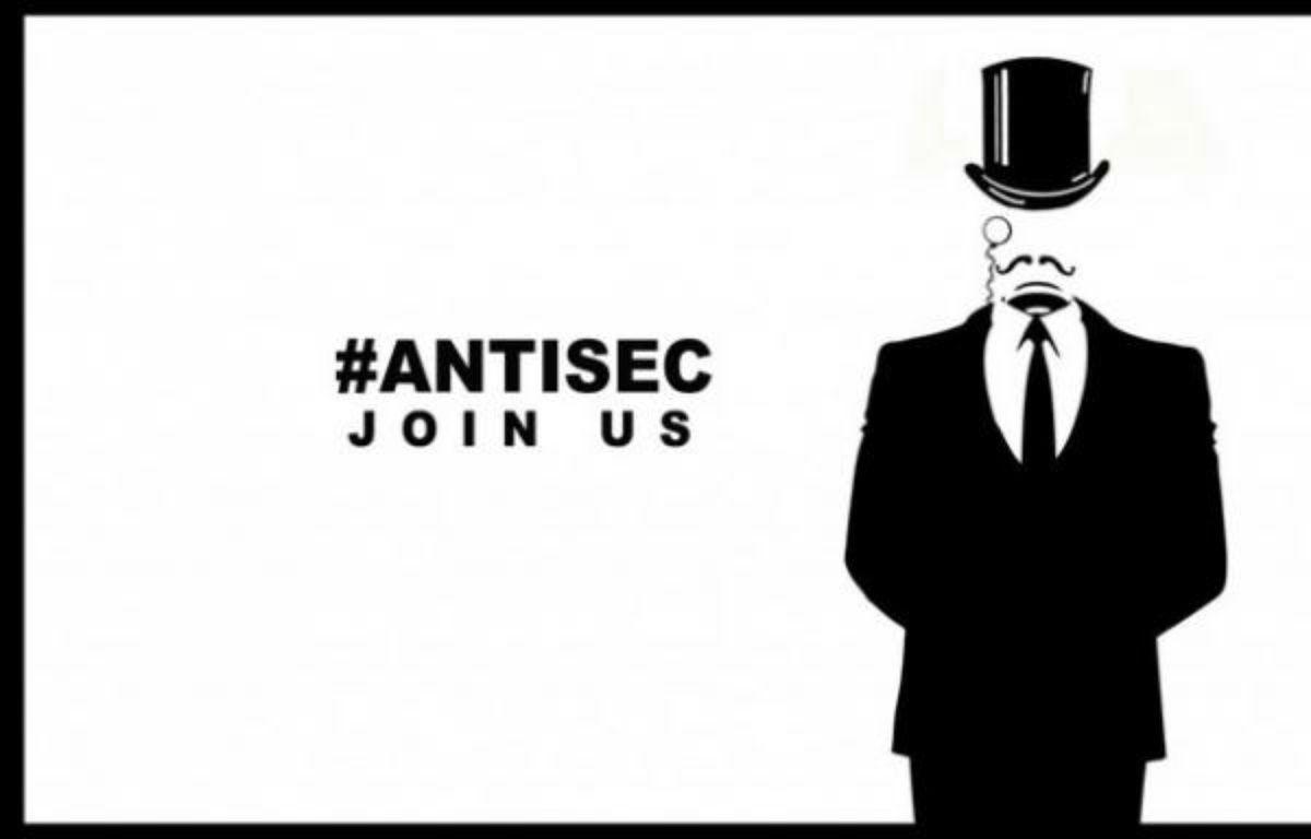 Un tract de l'opération #AntiSec, menée par les hackers de LulzSec et Anonymous. – DR