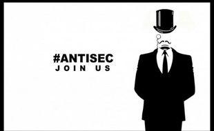 Un tract de l'opération #AntiSec, menée par les hackers de LulzSec et Anonymous.