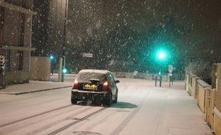 Illustration d'un épisode de neige, ici à Rennes en 2010.