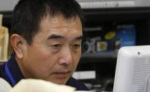 La fusée de la Corée du Nord a été lancée, comme l'indique ce moniteur de contrôle.