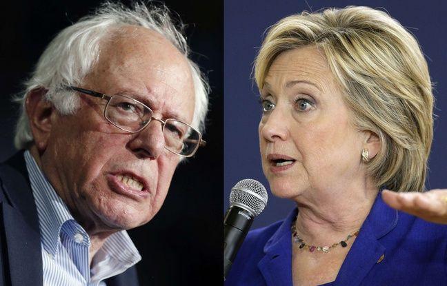 Les candidats dmocrates Bernie Sanders et Hillary Clinton.