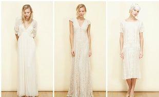 Robe Hermès (280 €), Scarlett (230 €) et Patiente (290 €), Mes Demoiselles.