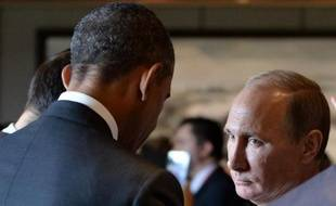 Barack Obama et Vladimir Poutine le 11 novembre 2014 à Pekin
