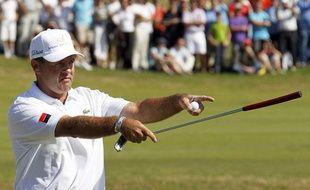 Le golfeur français Thomas Levet, après sa victoire à l'Open de France de golf, le 3 juillet 2011.