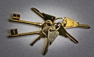 Un trousseau de clés (Illustration).