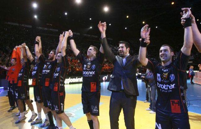Les Montpelliérains après leur victoire en Coupe de France, le 15 avril 2012 à Paris.