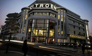 Le garage Citroën de Lyon, le 21 janvier 2016