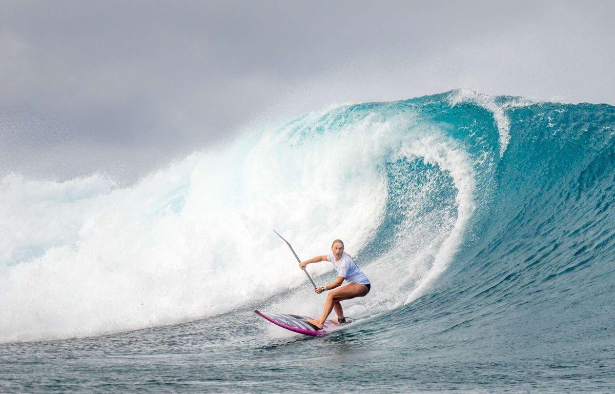Caroline Angibaud (4e en SUP Surf aux mondiaux 2016) – FFS