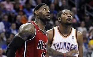 LeBron James face à Kevin Durant, le 14 février 2013