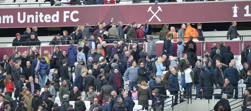 Les fans de West Ham.