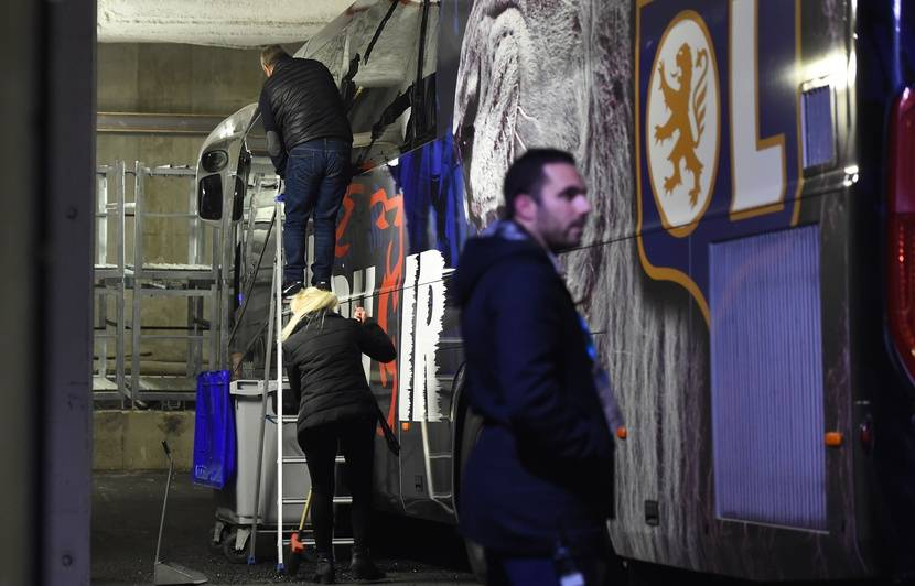 OM-OL : Le bus lyonnais a été caillassé, comme le craignaient les policiers marseillais