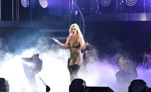 Britney Spears en concert à Taïwan, en juin 2017.