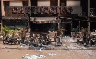 Lieu de l'attaque terroriste d'AQMI survenue à Ouagadougou le 16 janvier 2016.
