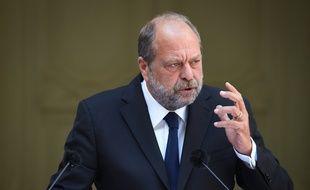Eric Dupond-Moretti lors de sa passation de pouvoirs au ministère de la Justice, le 7 juillet 2020.