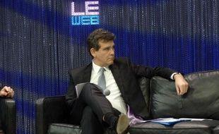 Arnaud Montebourg, ministre du Redressement productif, à la conférence LeWeb, le 12 décembre 2013.