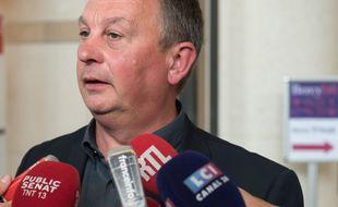 Bruno Kopczynski, ancien porte-parole de l'intersyndical d'Ascoval à Saint-Saulve, dans le Nord.