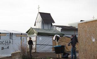 Calais, le 17 décembre 2015 - Le camp de migrants à Calais.