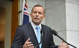Le Premier ministre australien Tony Abbott le 9 février 2014 à Canberra