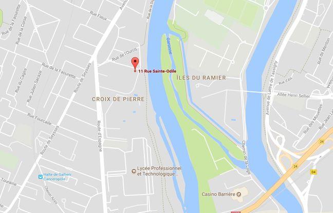 Le corps a été retrouvé au pied d'une immeuble de la rue Sainte-Odile, dans le quartier Croix-de-Pierre, à Toulouse.