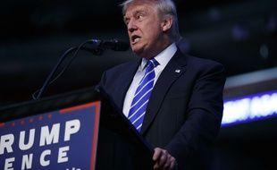 Donald Trump en meeting en Floride le 10 août 2016.