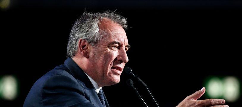 Pau's mayor Francois Bayrou delivers a speech at La Republique En Marche territories campus (campus des territoires de La Republique en marche) in Bordeaux.//AMEZUGO_DSC_5592/1909081748/Credit:AMEZ / ROBERT/SIPA/1909081753
