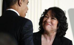 Barack Obama nomme Sonia Sotomayor, premier juge hispanique à la Cour Suprême, le 26 mai 2009.